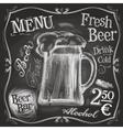 pub logo design template beer mug or menu vector image