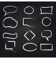 Chalk speech frames on blackboard background vector image