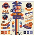 Halloween sale labels and stickers vector image