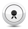 Button with medal vector image