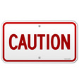 Caution Rectangular Notice vector image vector image
