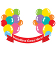Balloons Bunch With Red Ribbon vector image