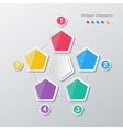 paper polygon infographics vector image vector image