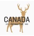 deer logo design elements vector image vector image