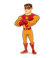Handsome Superhero Crossing Arm vector image vector image