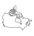 canada map of black contour curves of vector image