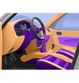 car interior vector image