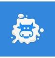 Cow Head Milk Product Logo vector image
