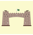 Khyber Pass in Pakistan vector image