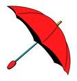 red umbrella icon cartoon vector image