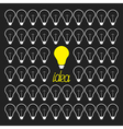 Switch on and off light bulb collection Idea vector image