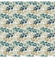 twigs with leaves seamless pattern turkuoise and vector image