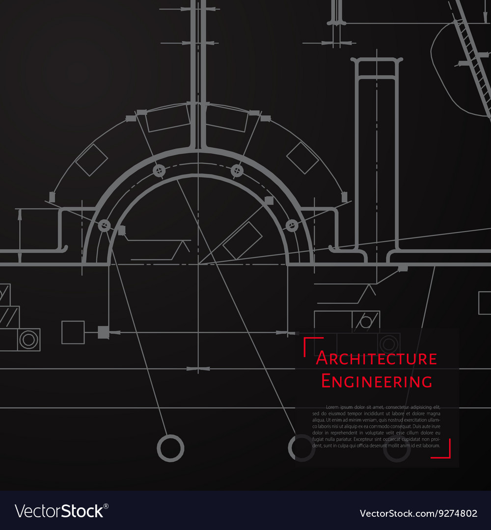 Technical blueprint of mechanism vector