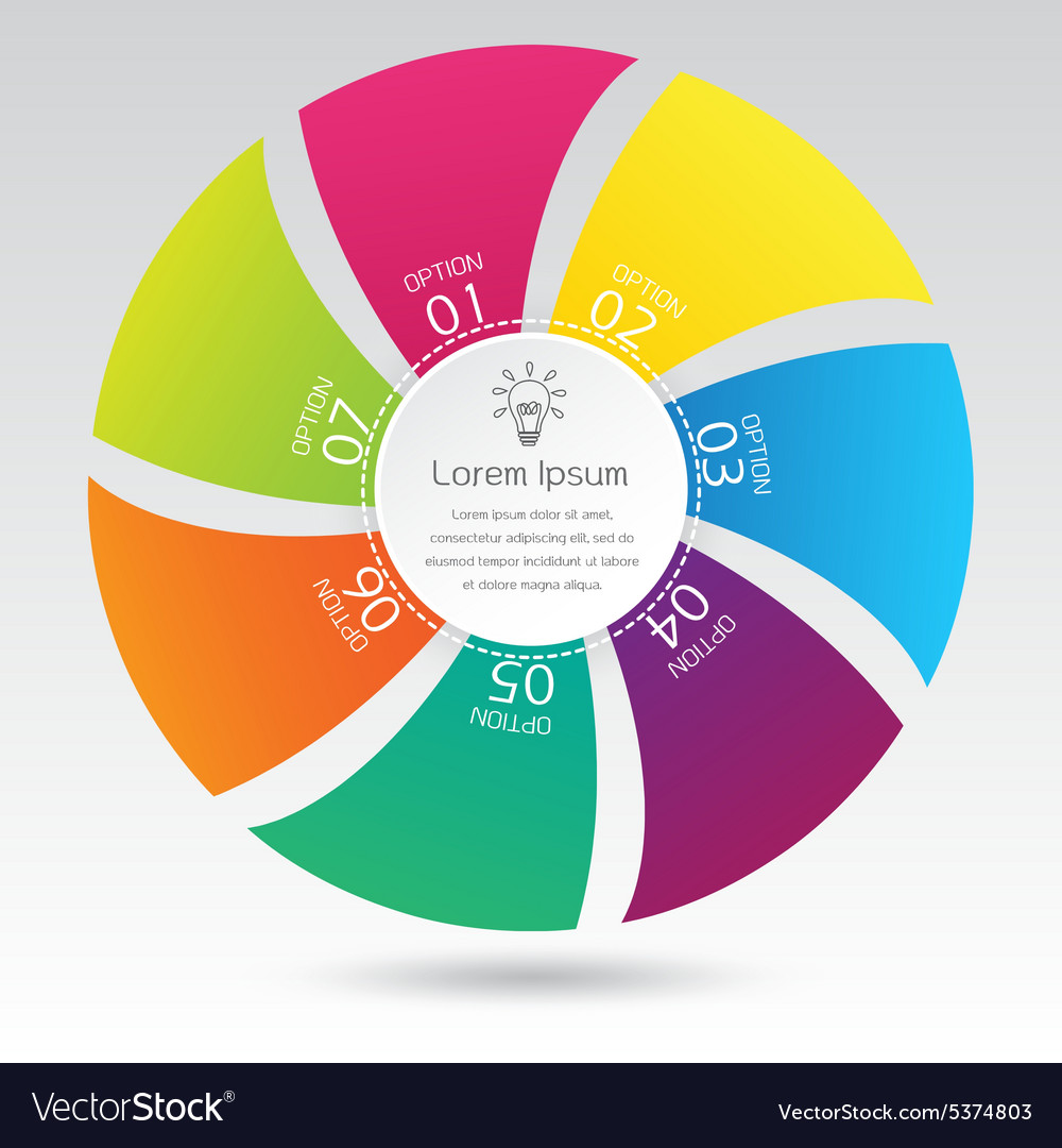 Business infographic circle diagram presentation vector