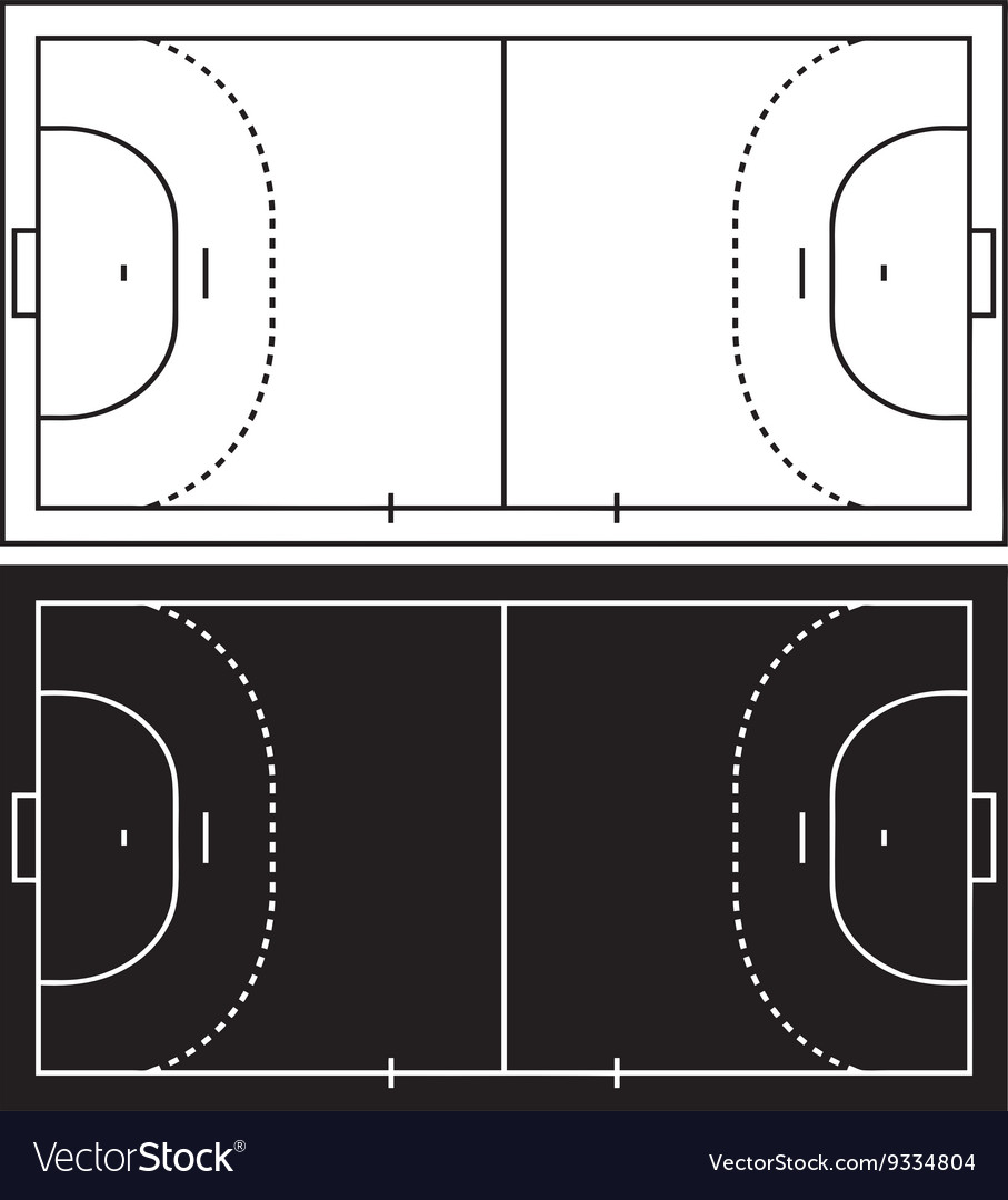Handball court vector