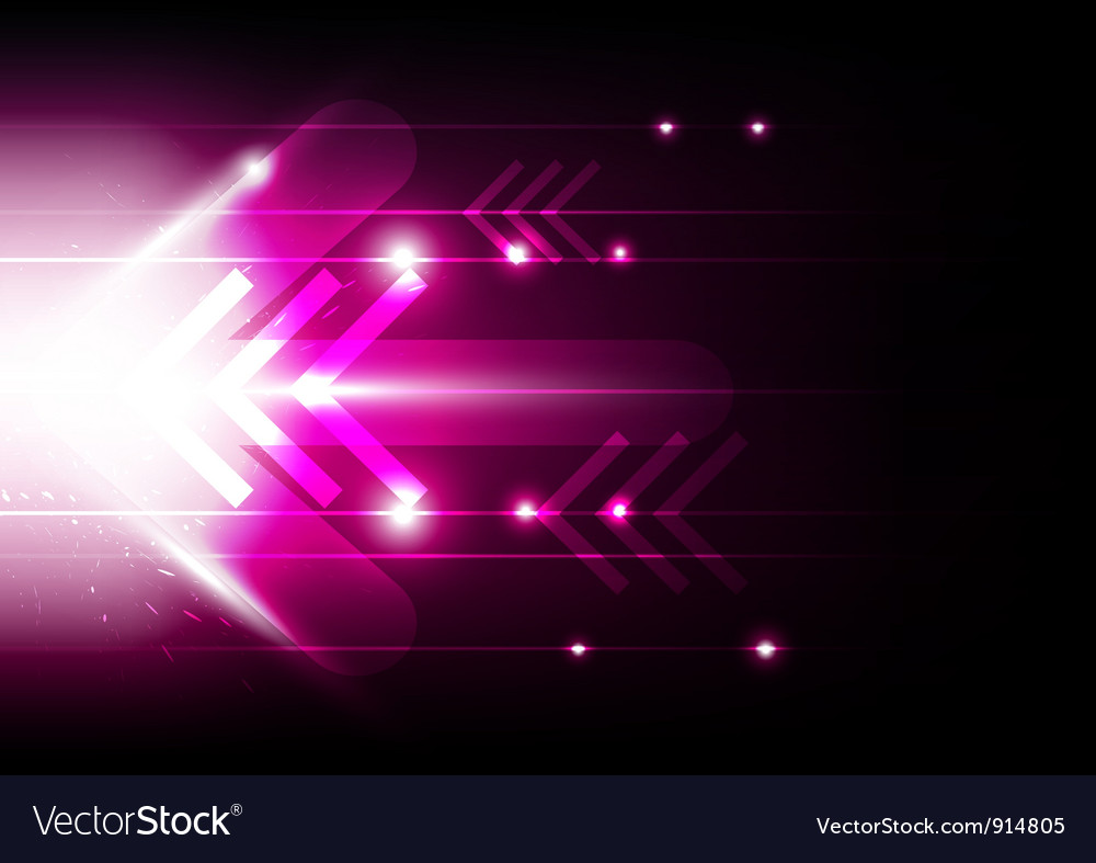 Abstract movement arrow vector