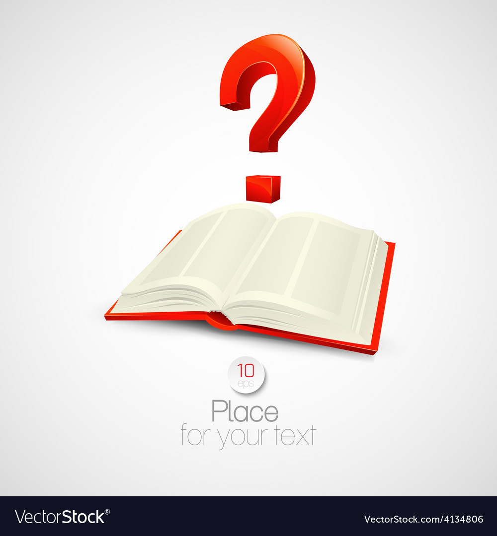 Book with a question mark vector