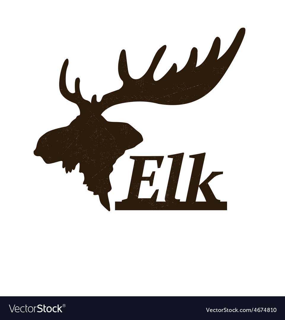 Elk logo design template vector