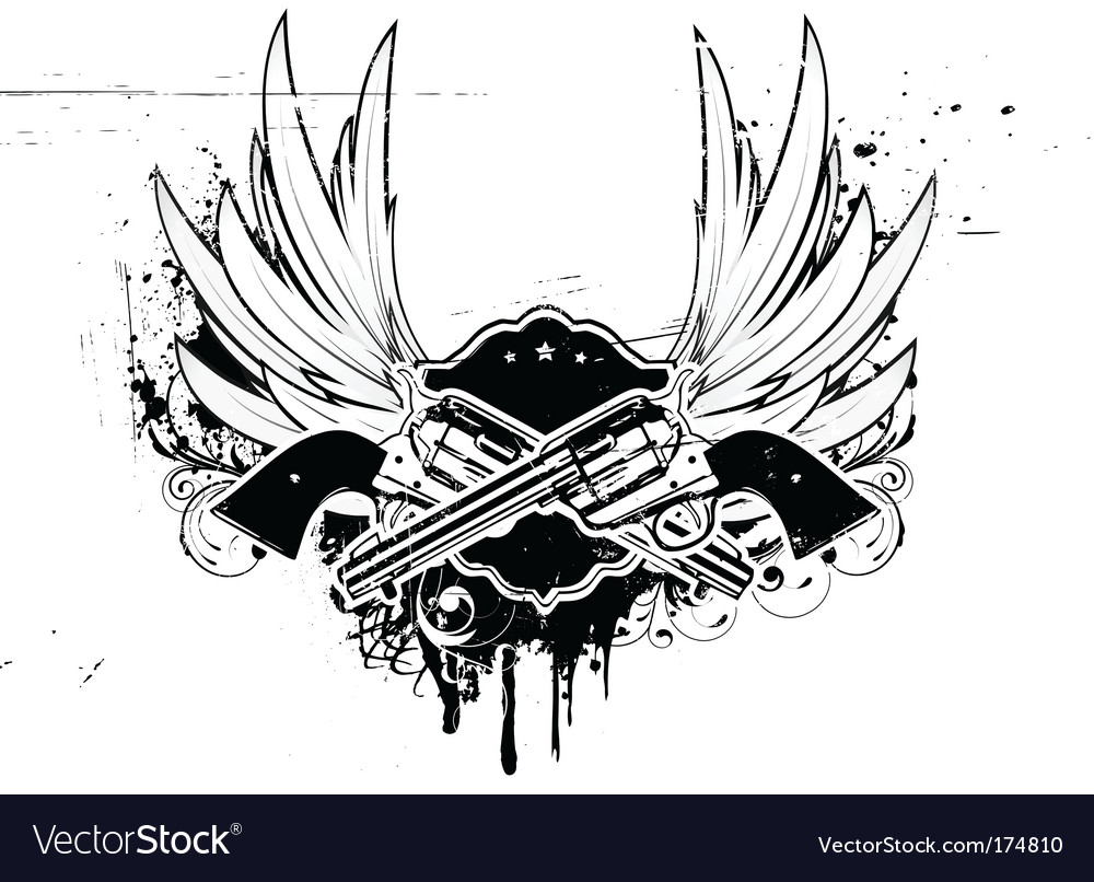 Grunge insignia vector
