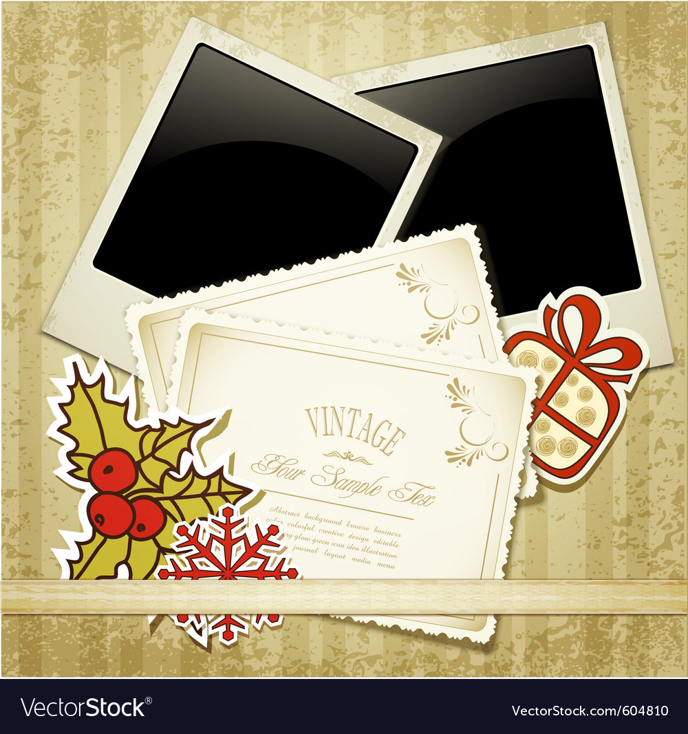 New years congratulatory background with vintage c vector