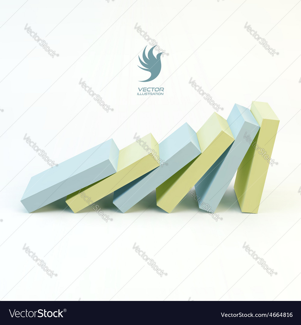 Business 3d concept leadership vector