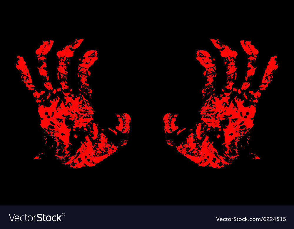 Hands bloody vector