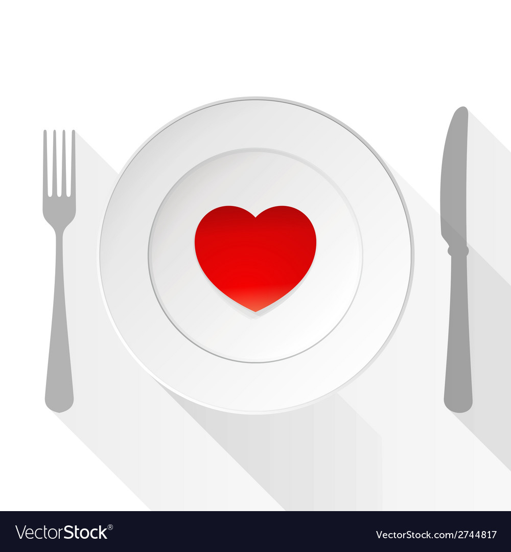Valentine love plate vector