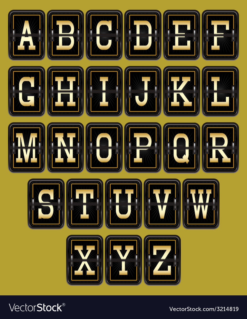 Alphabet in retro style on background for web desi vector