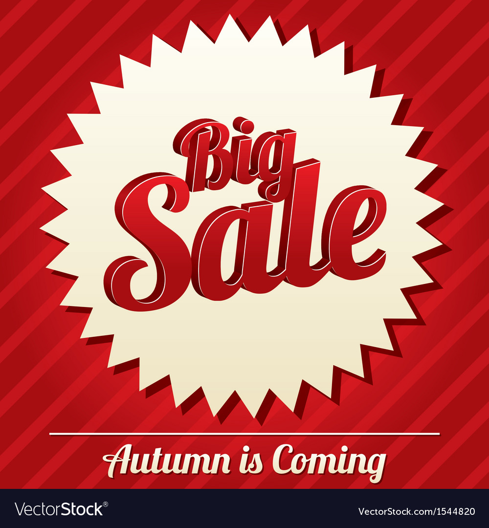 Big sale tag sticker icon for special offer vector