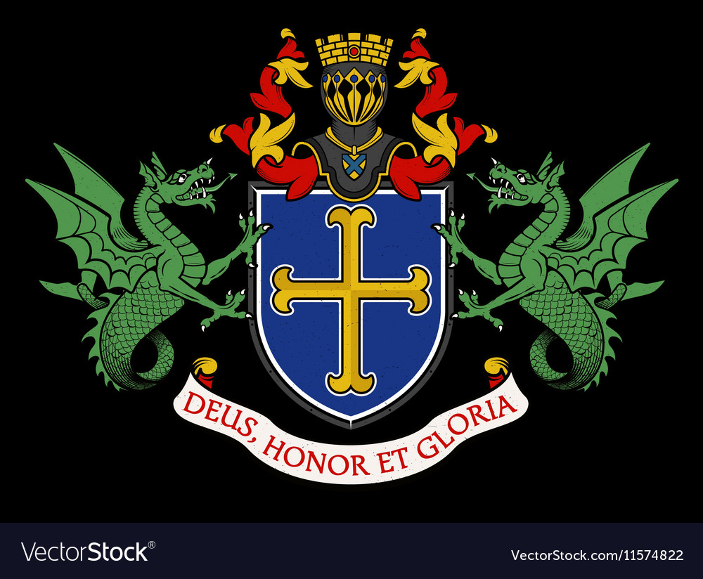 Coat of arms knight vector