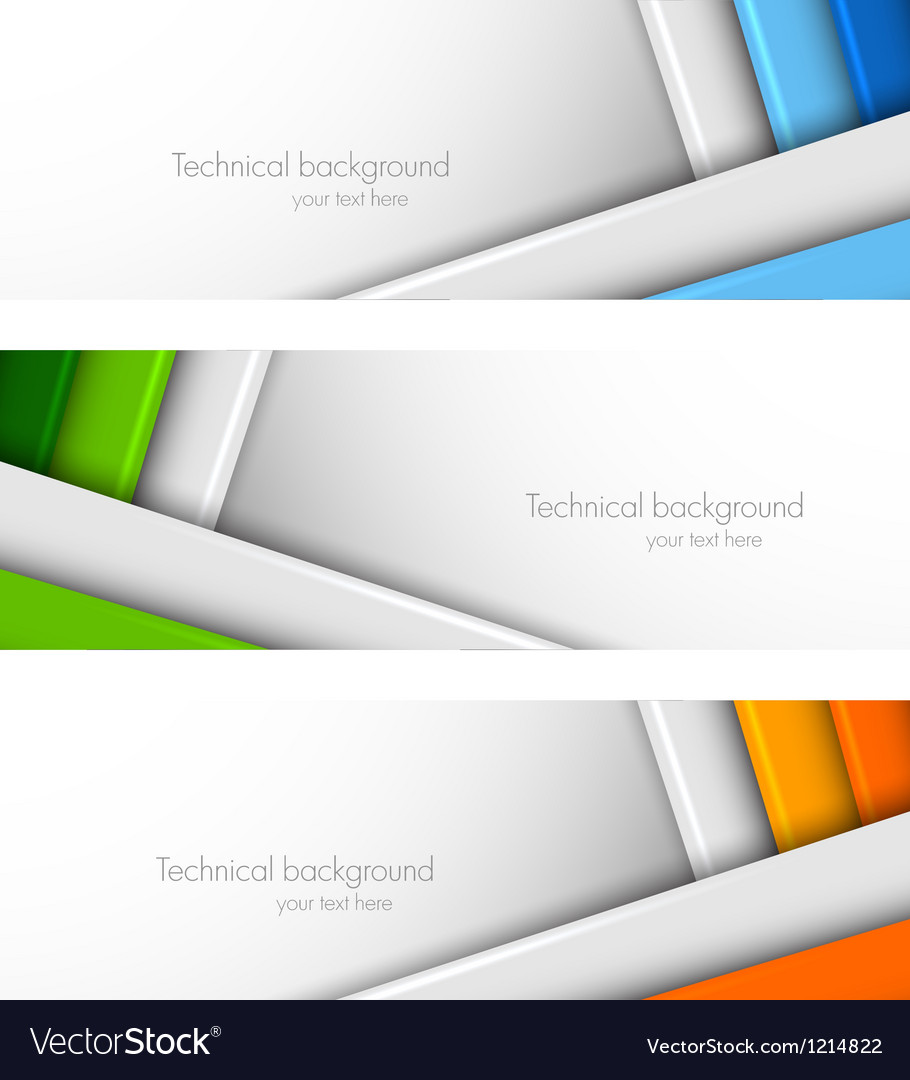 Set of banners with lines vector