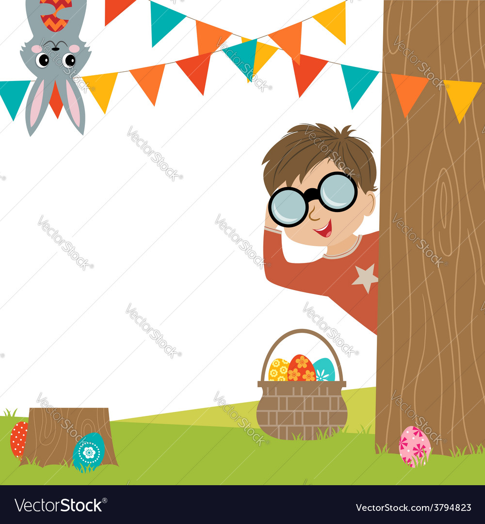 Egg hunt vector