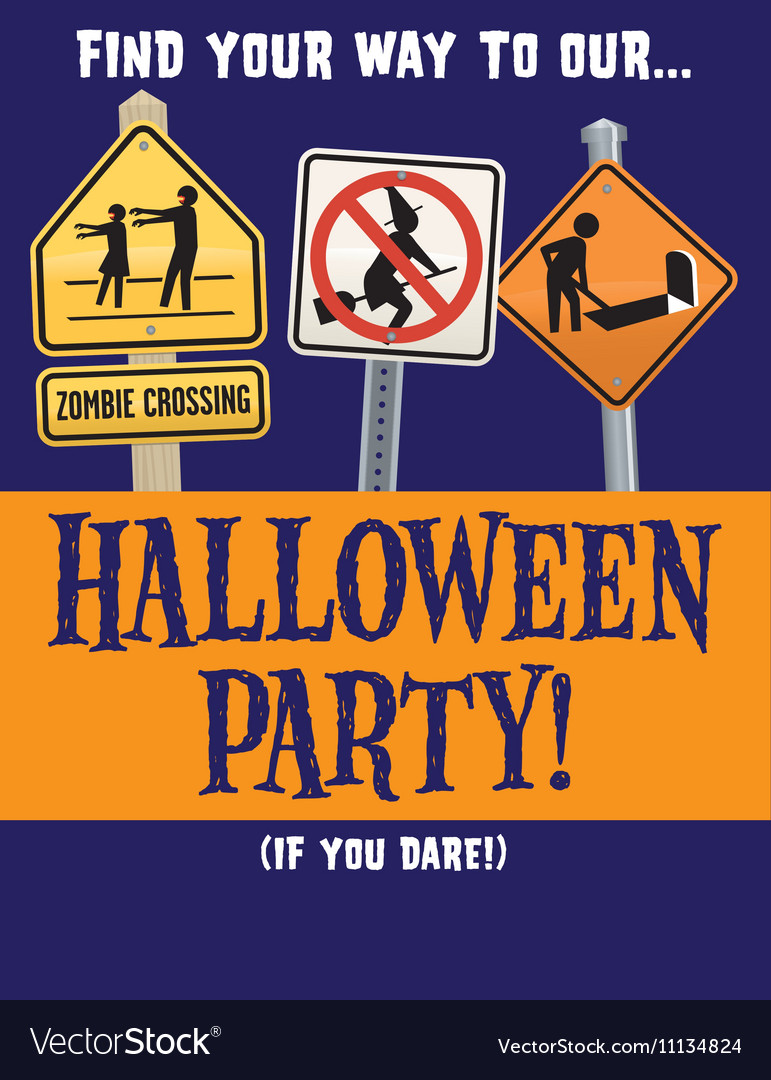 Halloween party template vector