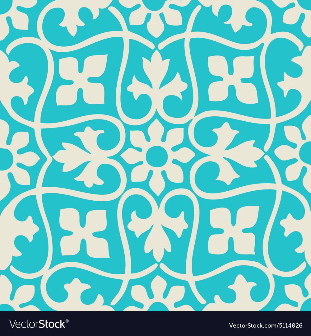 Seamless floral pattern colorful vintage vector