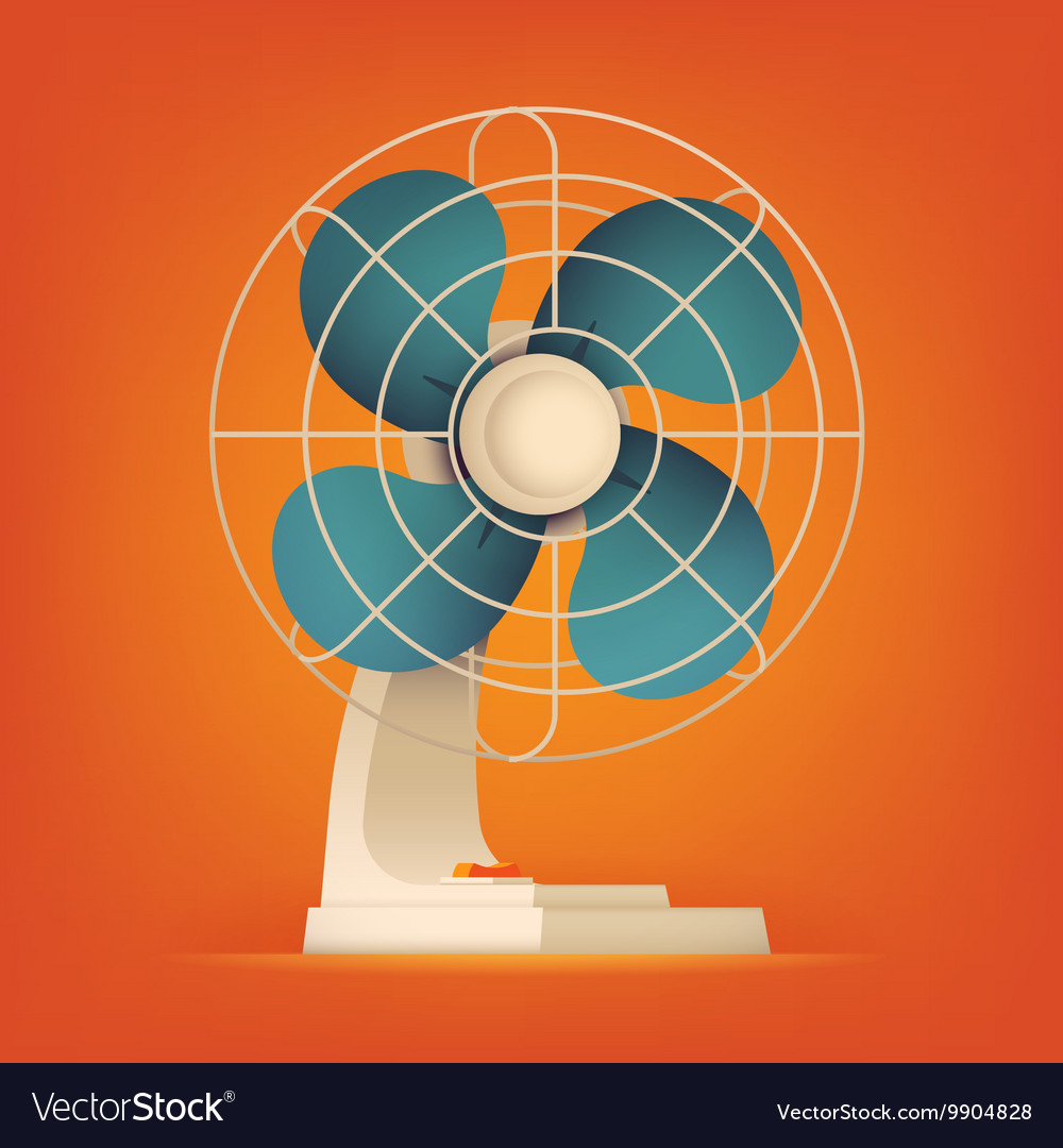 Retro fan icon vector