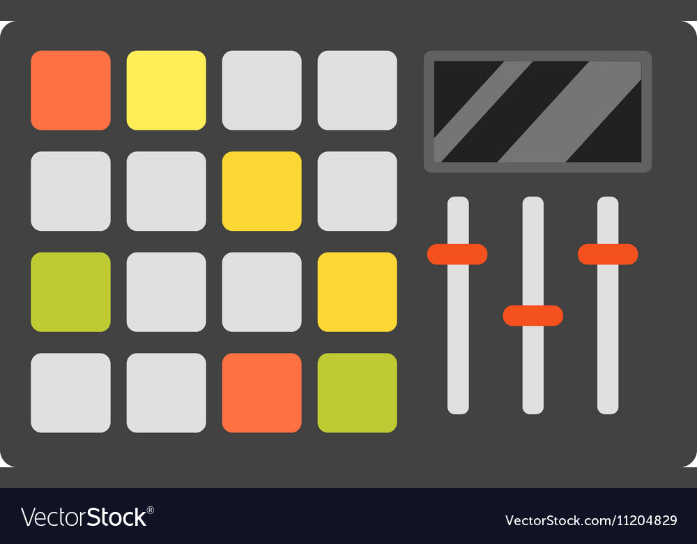 Dj music equipment icon vector