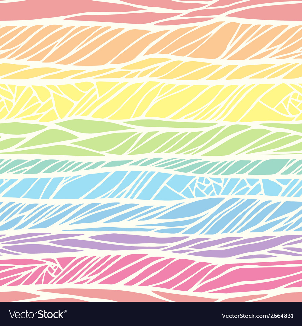 Seamless pattern with colorful hand drawn abstract vector