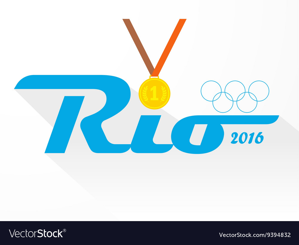 Sign symbol rio olympics games 2016 vector