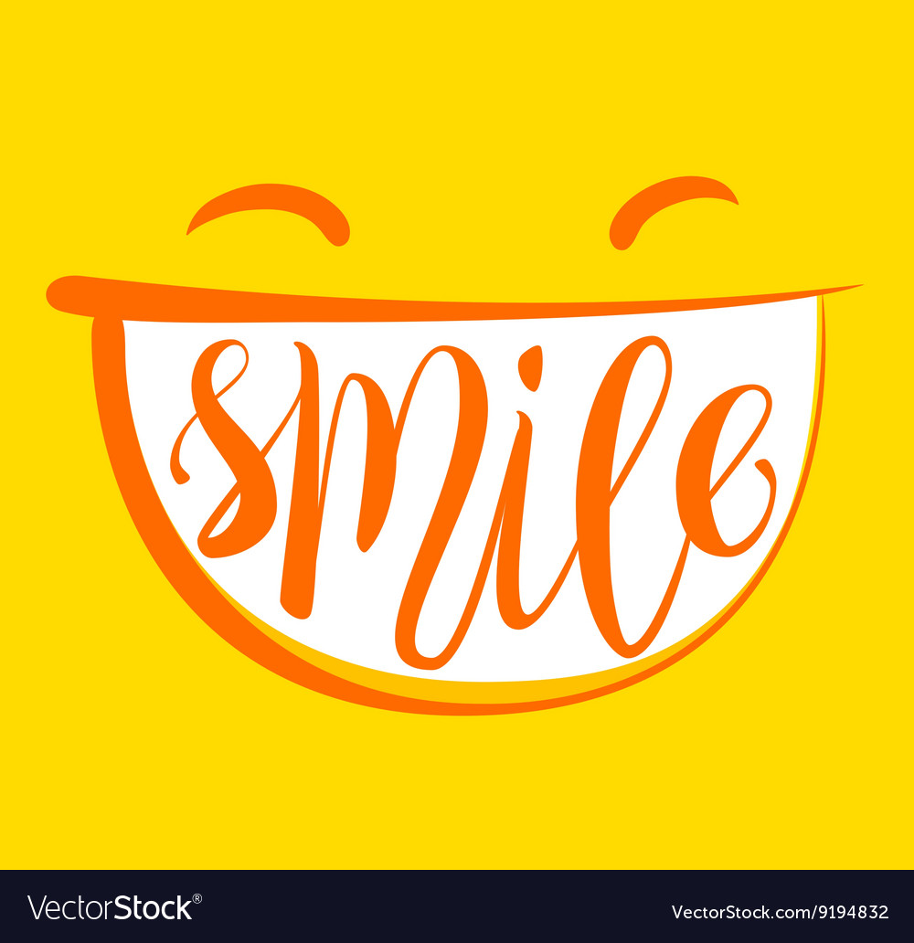 Yellow smile poster vector