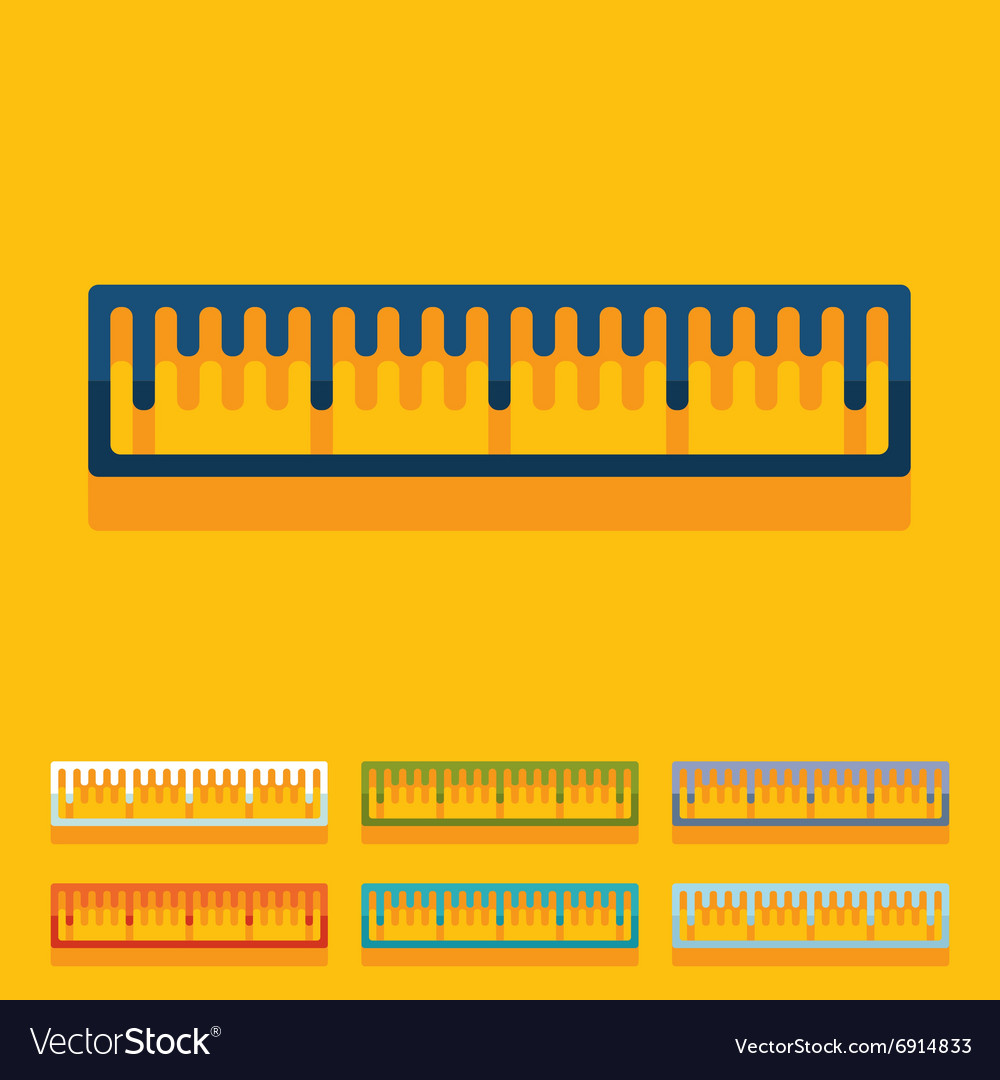 Flat design ruler vector