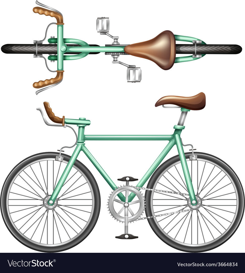 A green bike vector