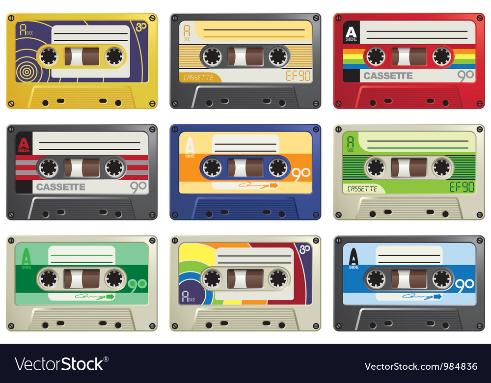 Cassette tapes vector