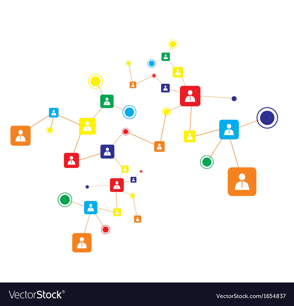 Human connection abstract business concept vector