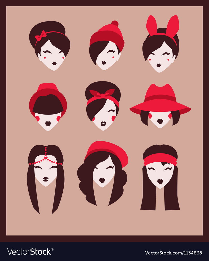 Fashion girls collection vector