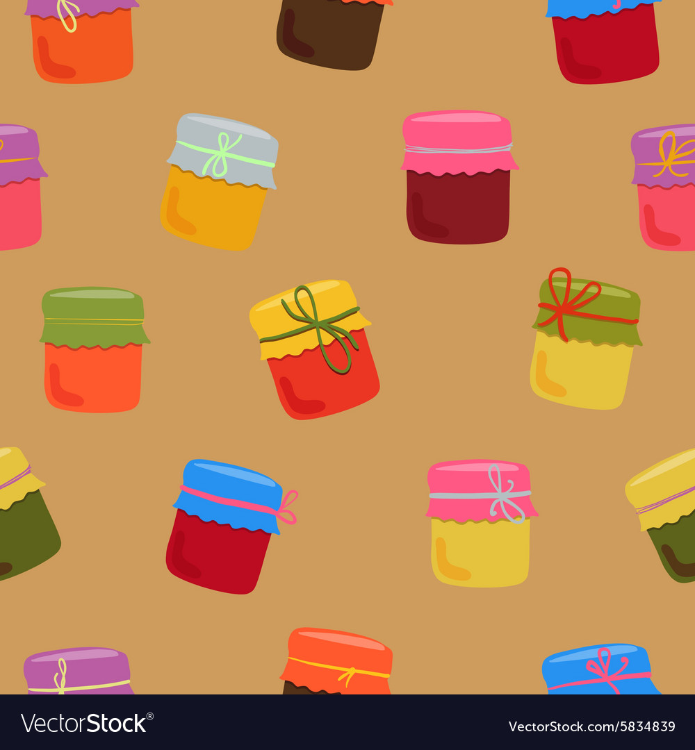Bright jam pattern vector