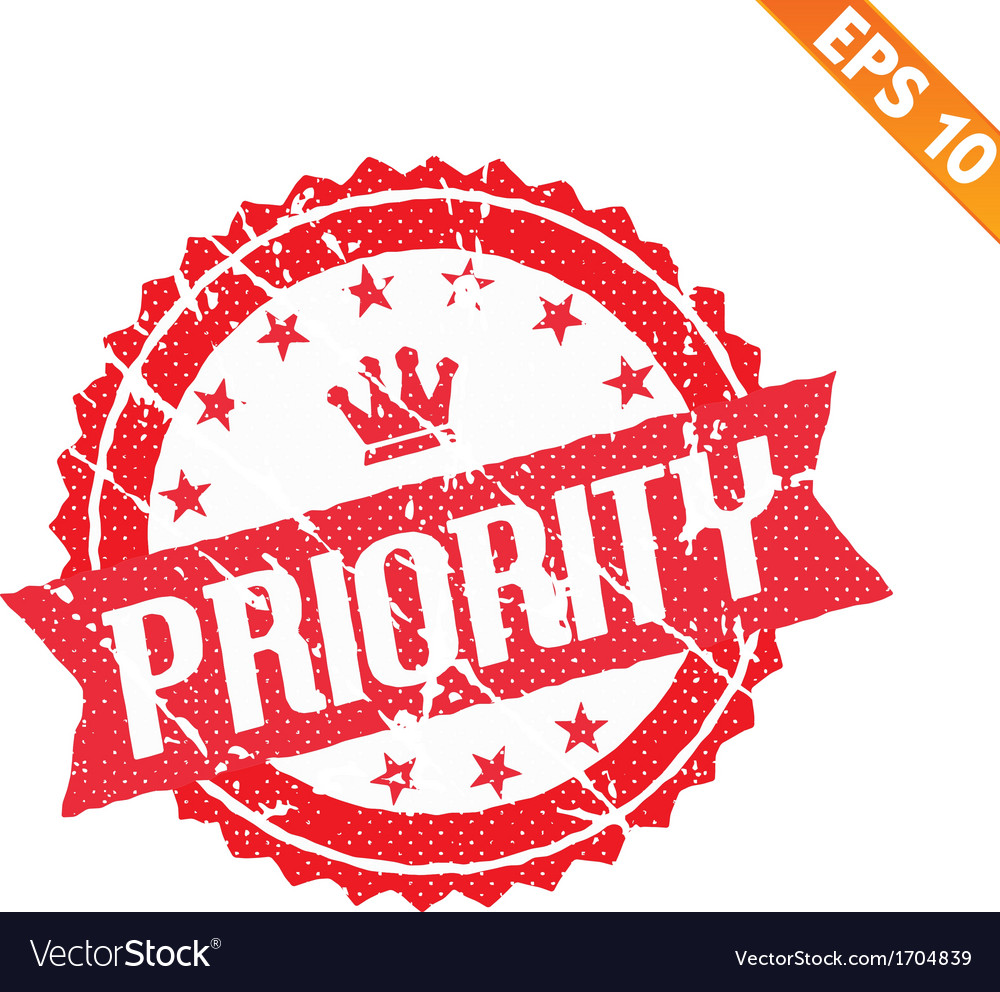 Rubber stamp high priority   eps10 vector