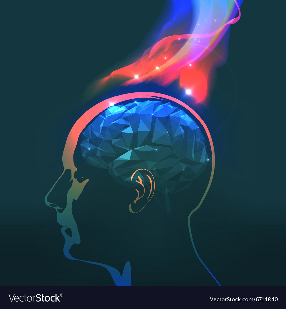 Headaches with flames vector