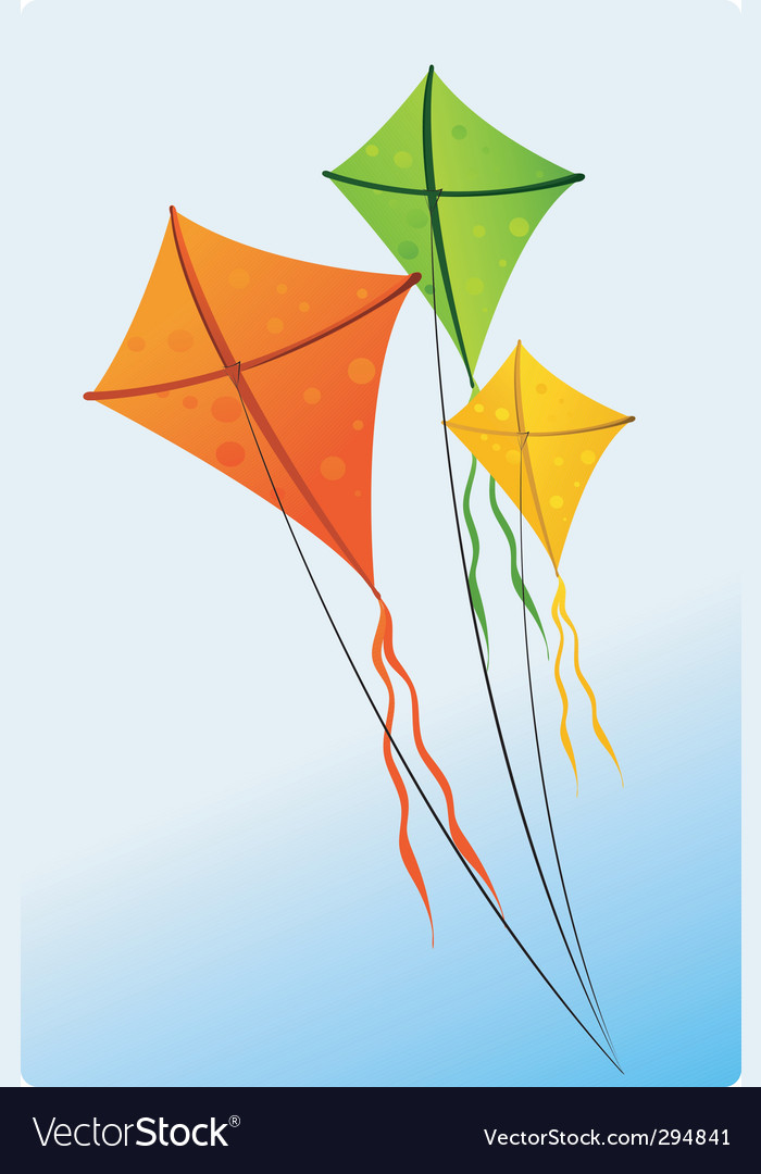 Flying kite vector