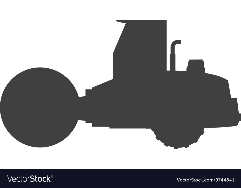 Steamroller machine icon vector