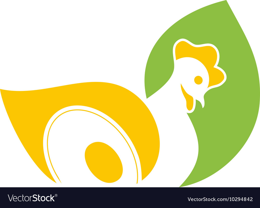 Abstract stylized ogo icon template hen design vector